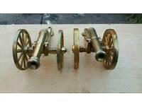 Antique copper canon x2