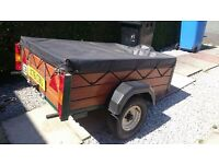 5ft by 4ft camping/ moving/tip garden waste trailer