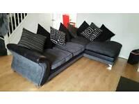 Dfs grey and black left hand corner sofa