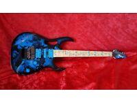 Ibanez jem guitar blue floral mint condition