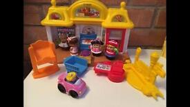Little people house and toys