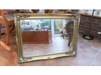 Gold Effect Ornate Mirror For Sale