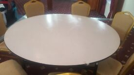 Round banqueting table for wedding and events. £35 each