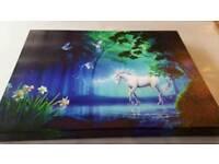 Unicorn light up canvas picture