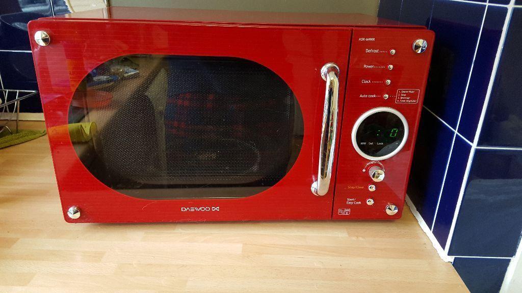 Daewoo KOR6N9RR 20 litre 800 watt Touch Control Solo Microwave Oven