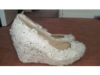 White Wedding Shoes/Heels