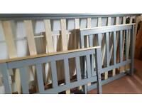 Single woodren grey painted single bed frame