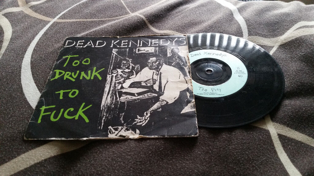 Dead Kennedys too drunk to vintage vinyl record