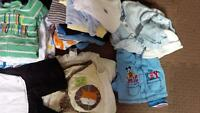50 pcs boy clothing from 0 to 6 month