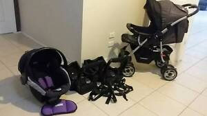 STEELCRAFT REVERSIBLE Pram + SAFE N SOUND CAPSULE + 2 BASES Coombabah Gold Coast North Preview
