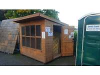 8ft x 6ft Solar Pent Garden Summerhouse Timber Shed Ex Display Show Model £430