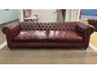 Stunning rare 4 seater leather chesterfield sofa £750