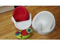 Baby Snug Baby Seat with Detachable Play Tray & activity- Red
