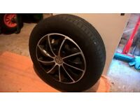 VW GOLF MK5 STEEL WHEEL SET WITH COVER TRIMS (Will fit most cars)