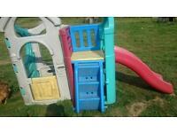 FisherPrice climbing frame with slide playhouse