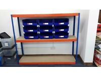 GARAGE OR WAREHOUSE RACKING - HEAVY DUTY BOLT LESS - THREE SHELVES