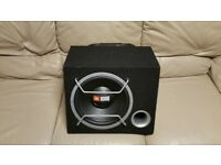 CAR ACTIVE SUBWOOFER JBL 1000 WATT 12 INCH WITH AMPLIFIER PORTED ENCLOSURE BASS BOX AMP SUB WOOFER