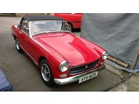 Classic mg midget sports car