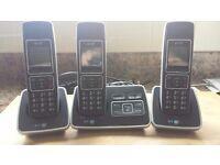 Triple Handset Telephone/Answer Machine