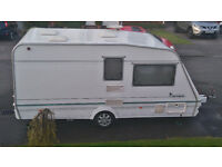 Abbey Caprice spacious 2 berth caravan with end bathroom, looked after & maintained van with Awning