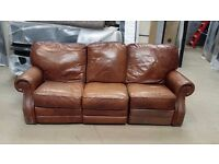 Recliner Leather Sofa - 3 Seater