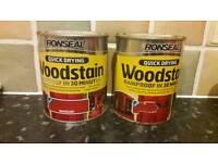 2x full 750ml ronseal woodstain