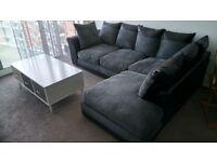 Corner sofa - charcoal