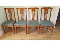 Set Of 4 Pine Dining / Kitchen Chairs