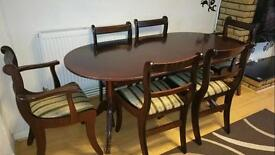SOLID WOOD DINNING TABLE WITH 6 CHAIR