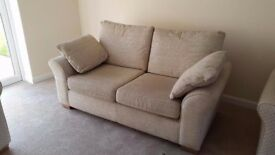 Real bargain! Beautiful NEXT beige set of 2 and 3 seater for sale