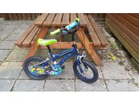 Child's bike. Ben 10. Suit 4 to 7 year old