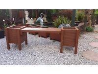 new wooden garden bench/planter