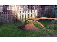 Vintage Horse Drawn Plough Ornament Garden Feature