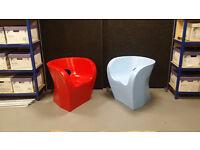 Little Albert Fibreglass Chair - Red or Blue £100 each