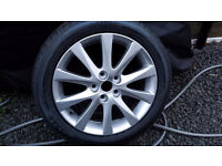 "MAZDA 6 SPORT ALLOY WHEEL 17"" WITH NEW TYRE."
