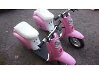 for sale 2 razer e100 electric retro scooters for spares repairs.