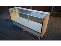 Retail Shop Glass Front Counter with Glass Shelves