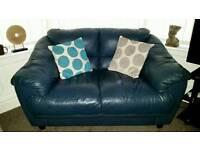 Blue leather suite