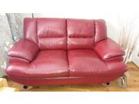 2 x 2 Red Leather sofas need gone ASAP