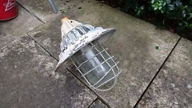 Vintage MOD Post WW2 Cast Metal Flameproof Light Fitting