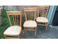 Set Of 3 Vintage Kitchen Chairs