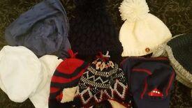 Bundle of baby boy hats 6-12 months