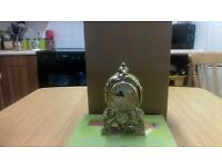 Ornate Vintage Weighty Brass Wind-Up Alarm Clock by Coral