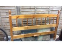 Free Double wooden bed frame (no fixings)