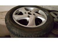 alloy wheel for Peugeot 206 silver 2005 model