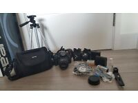 DSLR Camera Canon EOS 700D (T5i) with 18-55mm + Tripod + Bag (Bundle)