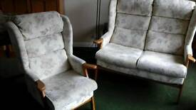 HSL 2 SEATER SETTEE AND ARMCHAIR