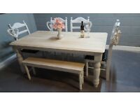Bespoke 6FT bench & table set