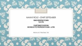 PART TIME LIVE OUT NANNY POSITION NW5