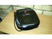 George Foreman Two Portion Compact Grill - Black